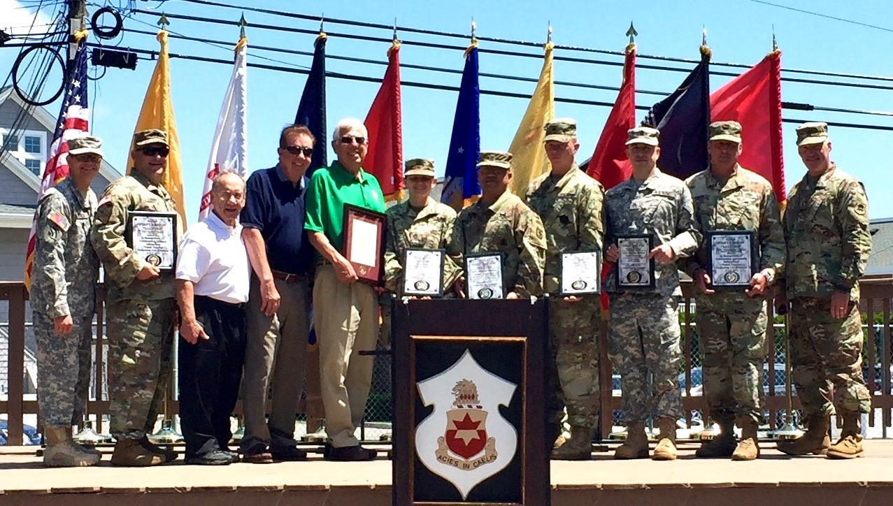 The First Region of the Association of the United States Army recognized the 254th Regiment(CA) New Jersey Army National Guard with it First Region AUSA Salutes Program