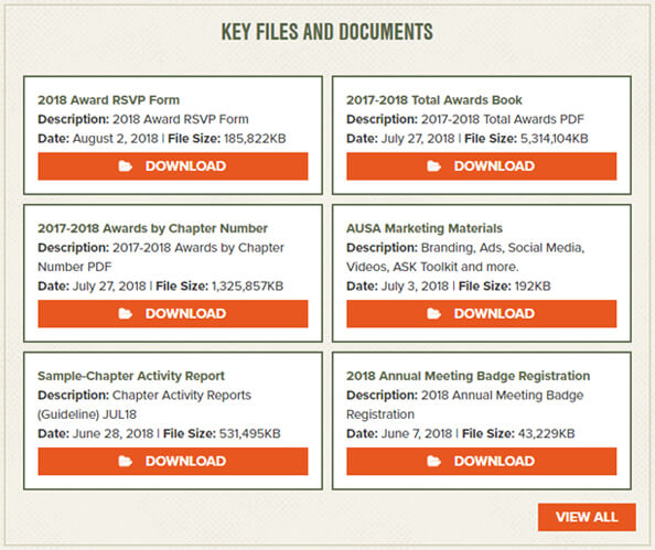 Key Files and Documents Screenshot