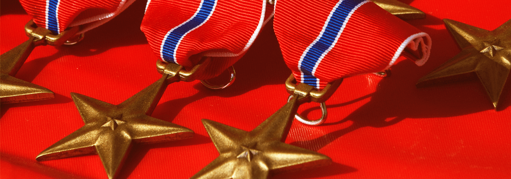 US Army Bronze Star Medals on Memorial Day