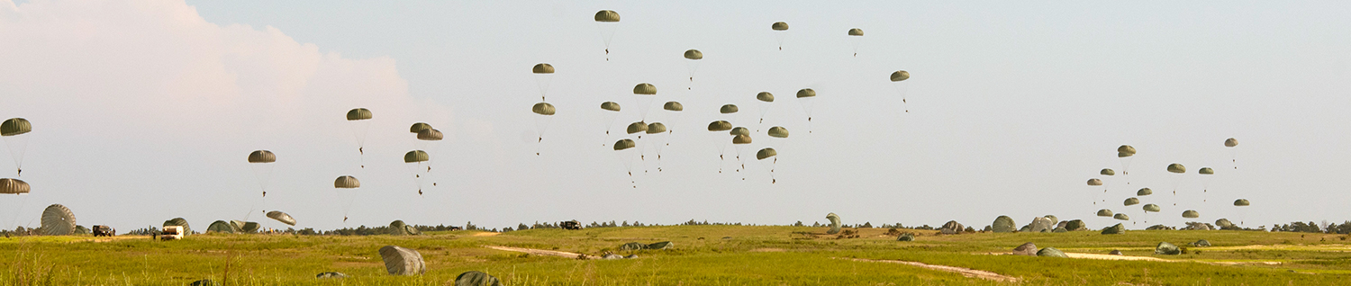 Airborne Soldiers Parachuting