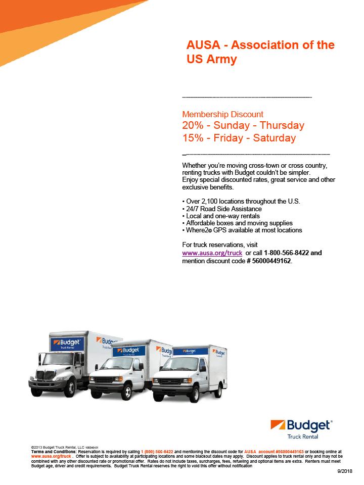 Budget Truck Benefits Flyer