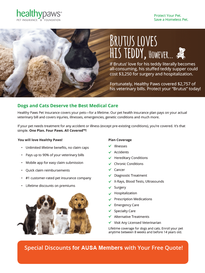 Healthy Paws Benefits Flyer