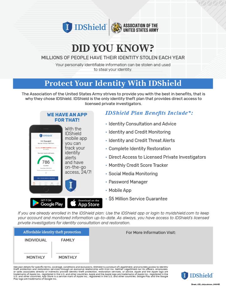 IDShield Benefits Flyer