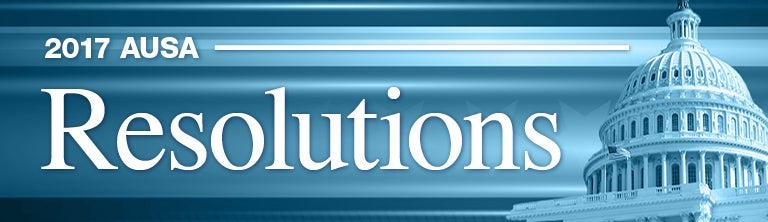 AUSA 2017 Resolutions Banner