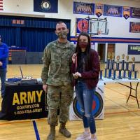 SFC Armentrout and Layla Blevins