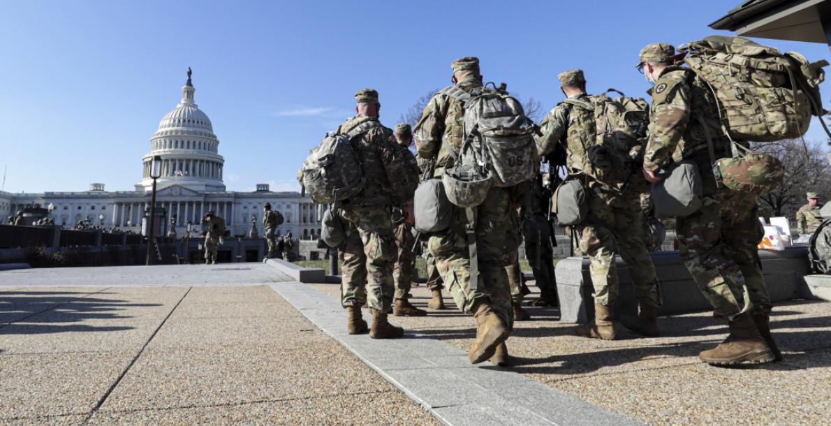 soldiers at the capitol