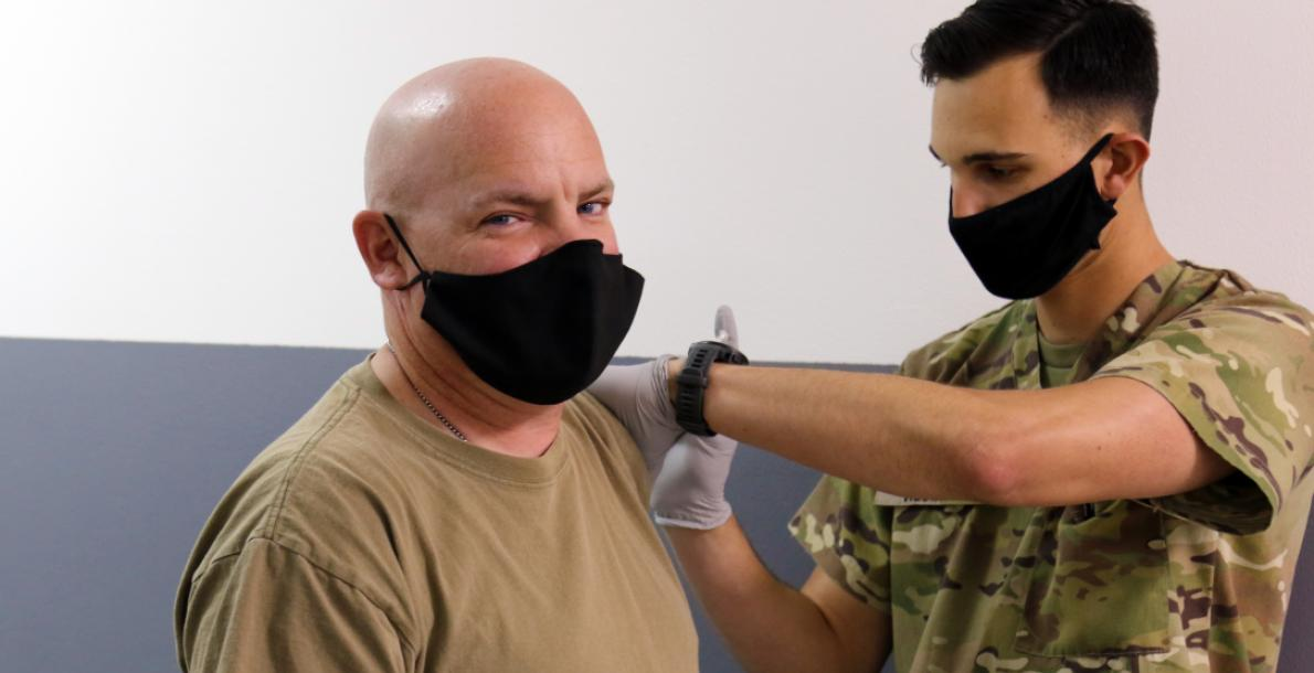 soldier getting vaccine