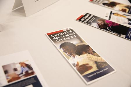 Pamphlets and informational material given to attendees at the AUSA Military Forum II: Military Spouse Deployment, at the 2019 AUSA Annual Meeting and Exposition at the Washington Convention Center on Oct. 15, 2019.