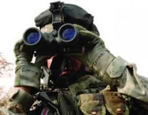 US Army Soldier with Binoculars