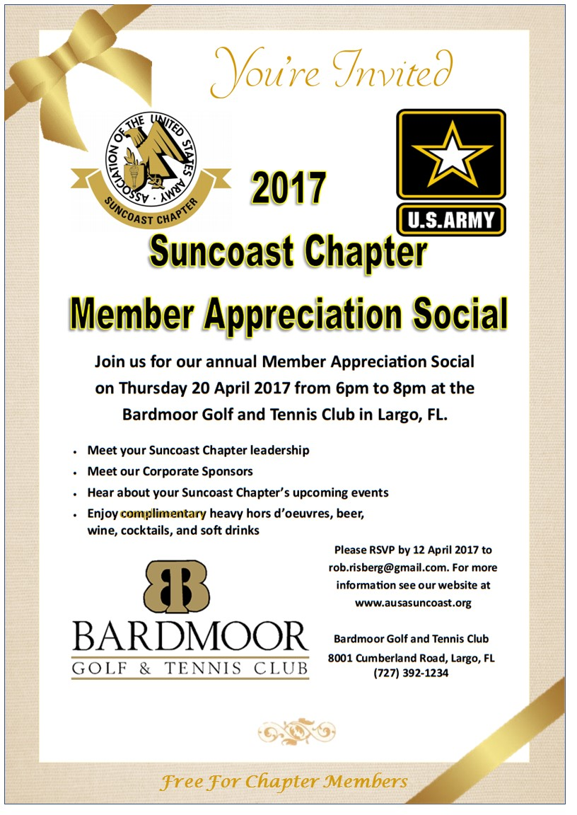 AUSA Suncoast Chapter Member Appreciation Social
