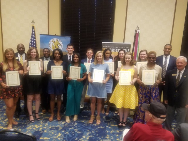 Scholarship recipients who were present at the luncheon